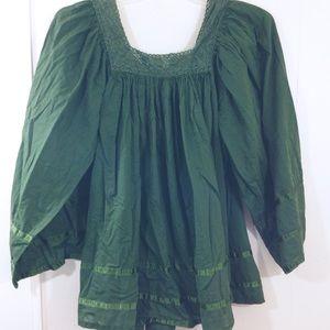 Tops - Green Flowy  | Tunic , Size 16. BEAUTIFUL
